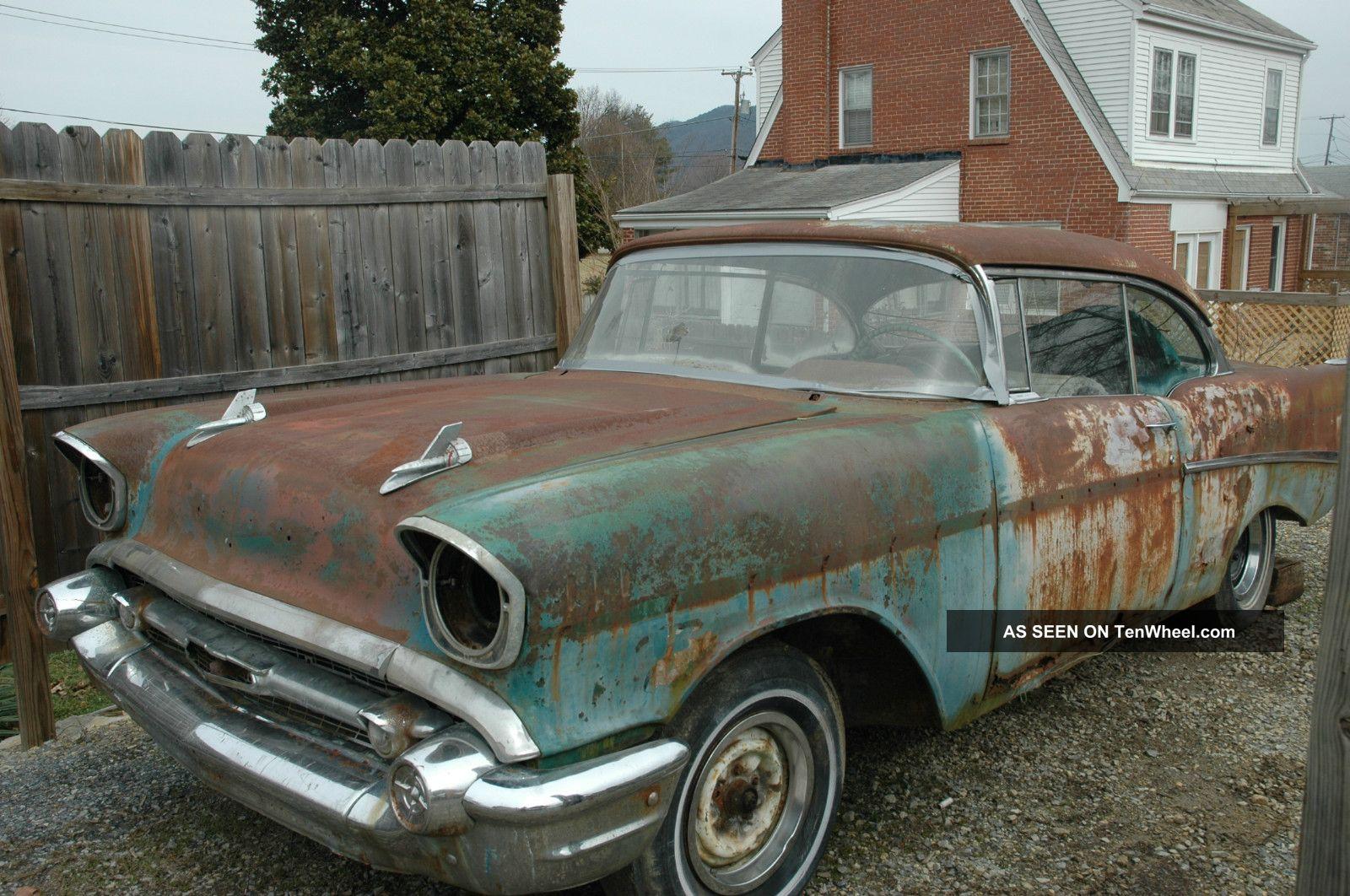 1957 chevrolet bel air 2 door hardtop great project chevy for 1957 belair 2 door hardtop