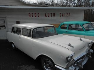 1957 Chevrolet Bel Air 2 Door Station Wagon Nomad Great Hot Rod Or Rat Rod photo