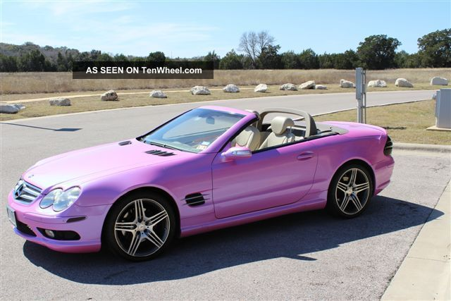 2004 sl 500 custom pink included amg rims for Pink mercedes benz power wheels