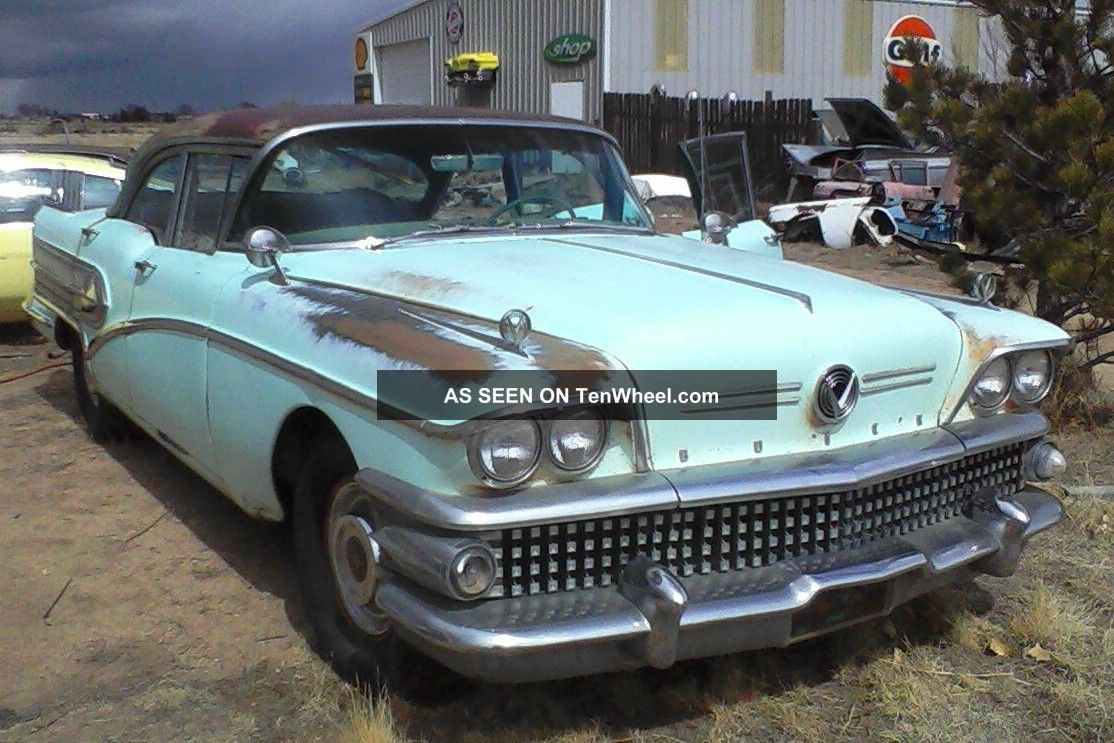 1958 Buick Special 4dr Sedan Barn Find Nailhead Other photo