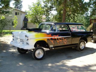 1955 Chevrolet Nomad Gasser (black With Flames) photo