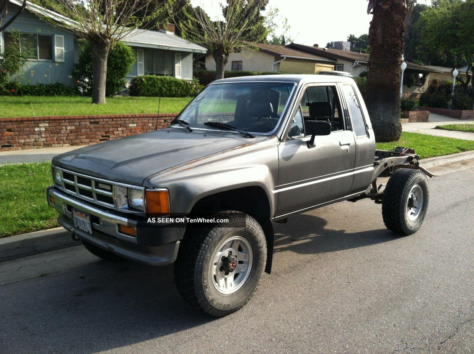 1986 Toyota 4x4 Xtracab Tacoma Truck Ac 4 Cyl 5 Spd Sr5 Rebuilt Motor W / Receipt Tacoma photo
