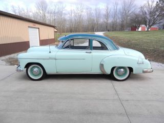 1950 Chevrolet Deluxe Sport Coupe Two Door Six Cylinder Standard Trans. photo