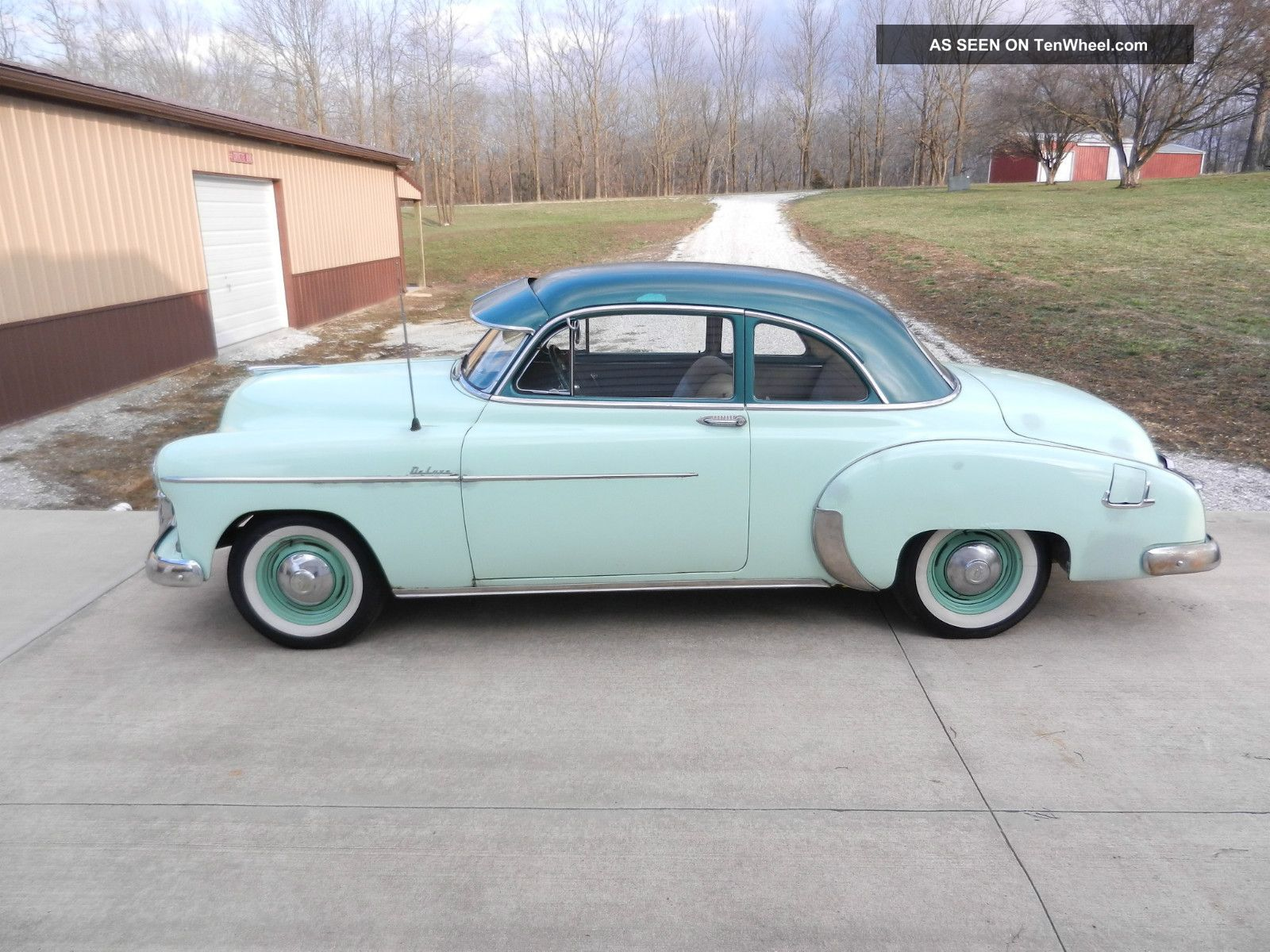 1950 chevrolet deluxe sport coupe two door six cylinder