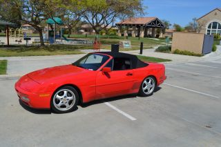 1989 Porsche 944 S2 Cabriolet Convertible Guards Red, photo