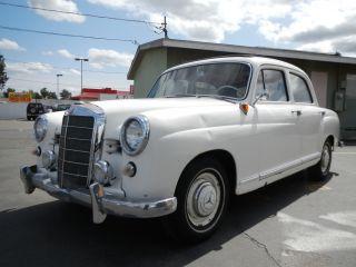 1959 Mercedes Benz 180 W120 Ponton Sedan Wabasto Top Classic Youngtimer Saloon photo