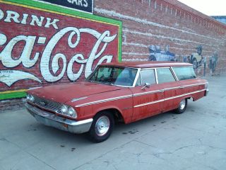 1962 63 Ford Country Station Wagon Barn Find Rat Hot Rod Galaxie Squire Surfer photo