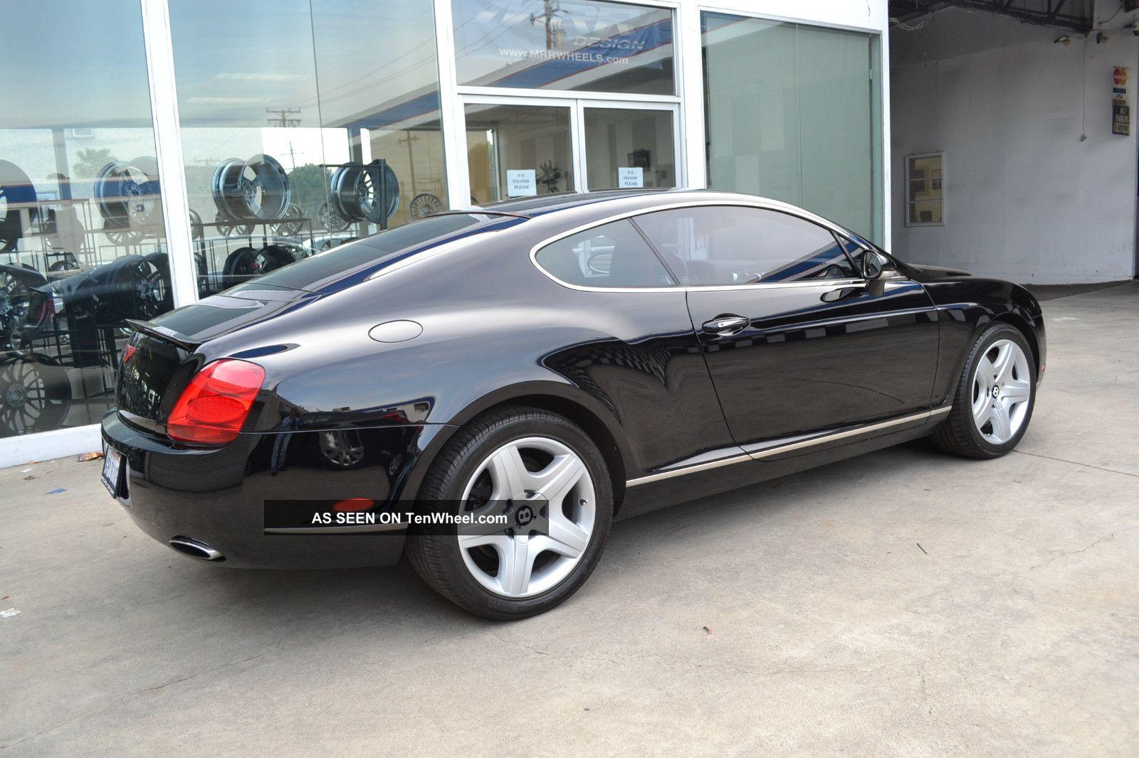 2005 Bentley Continental Gt Coupe 2 Door 6 0l Jet Black
