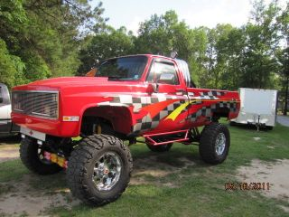 1987 Gm Lifted 4x4 Antique Monster / Show / Custom Truck Tagged & Insured For $18500 photo