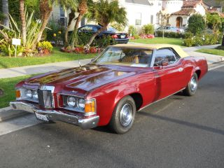 Convertible Cougar 1973 Burgandy 2 Door Rwd 351 Cleveland Xr - 7 photo