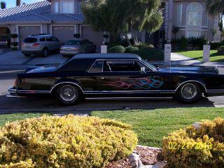 1977 Lincoln Continental Mark V,  Black Custom Chop - Top Ex - Sho Car Hydraulics photo