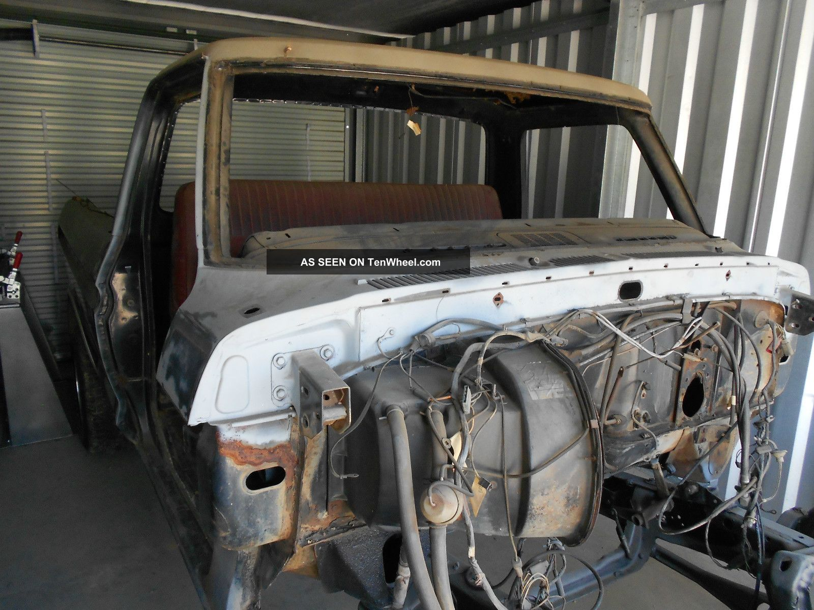 1973 Ford F100 Ranger Xlt Short Bed Disassembled For Restoration F-100 photo