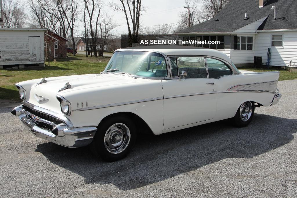 1957 chevy belair 2 door hardtop v8 auto for 1957 belair 2 door