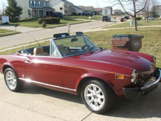 1975 Fiat 124 Spider Convertible 2 - Door 1.  8l photo