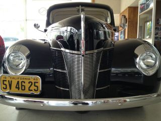 1940 Ford Deluxe Coupe Black 350 V8 Top 100 Hot Rod By Rod And Custom photo
