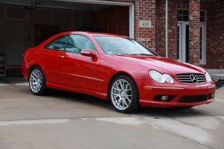 2005 Mercedes - Benz Clk500 Mars Red Tan Interior photo