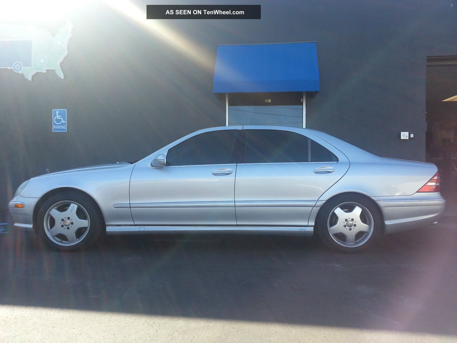 2001 mercedes benz s55 amg silver for Mercedes benz s class 2001