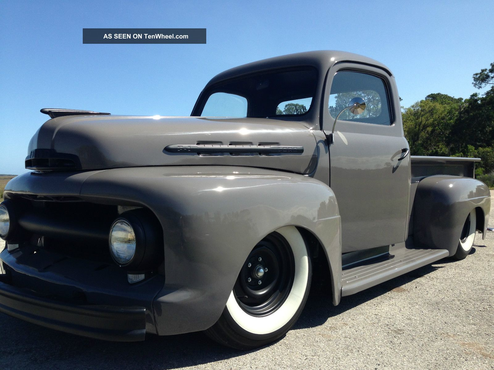 1952 ford f1 pickup truck flathead v8 complete restoration. Black Bedroom Furniture Sets. Home Design Ideas