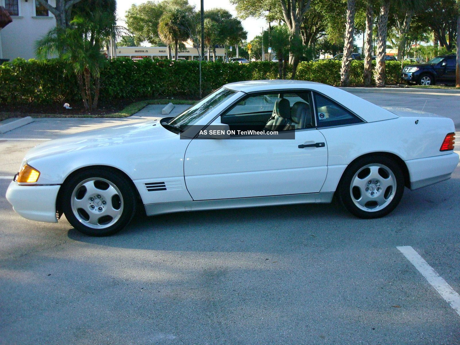 1992 mercedes benz 500sl convertible white for Mercedes benz 1992