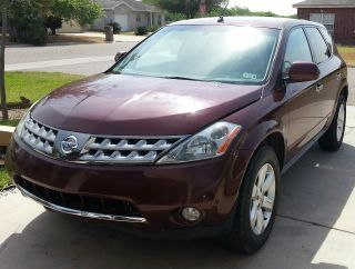 2006 Nissan Murano S Awd Title Maroon photo