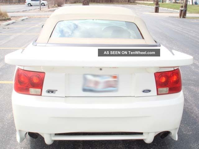 2001 Pearl White Mustang Gt V8 Convertible Saleen Clone