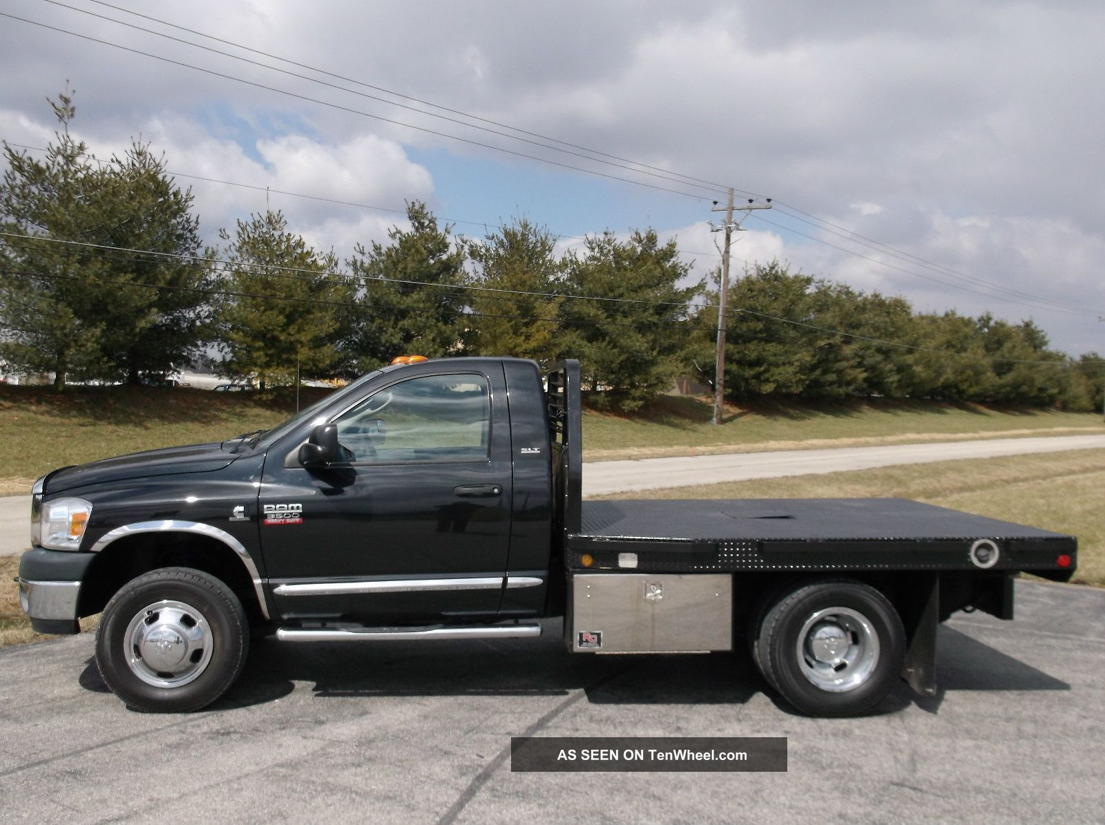 2007 dodge ram 3500 slt reg cab chassis 4x4 flat bed cummins tubo diesel 4x4. Black Bedroom Furniture Sets. Home Design Ideas