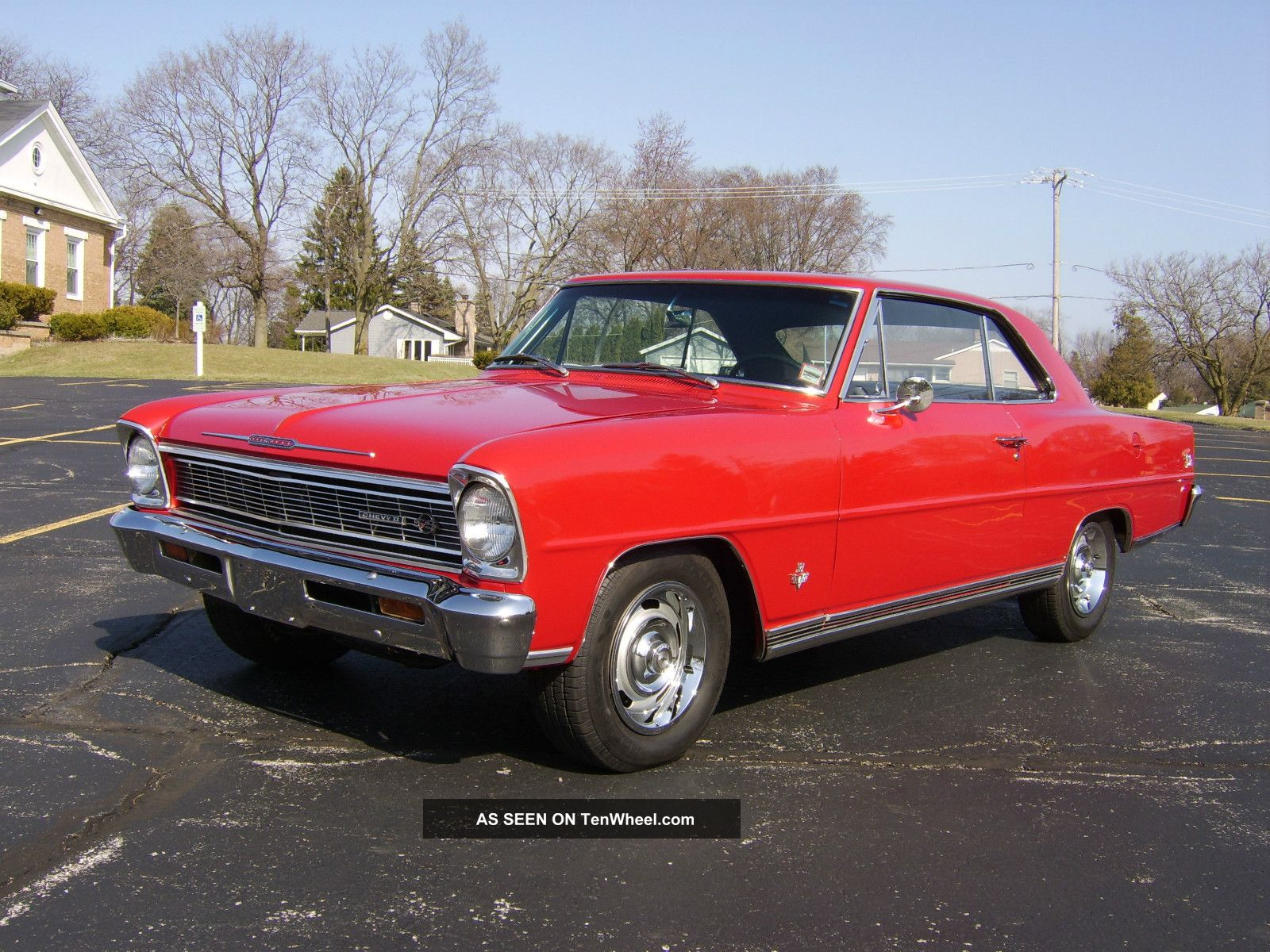 1966 Chevy Ii Nova Ss S Match 327 Red Bucket Seat Car
