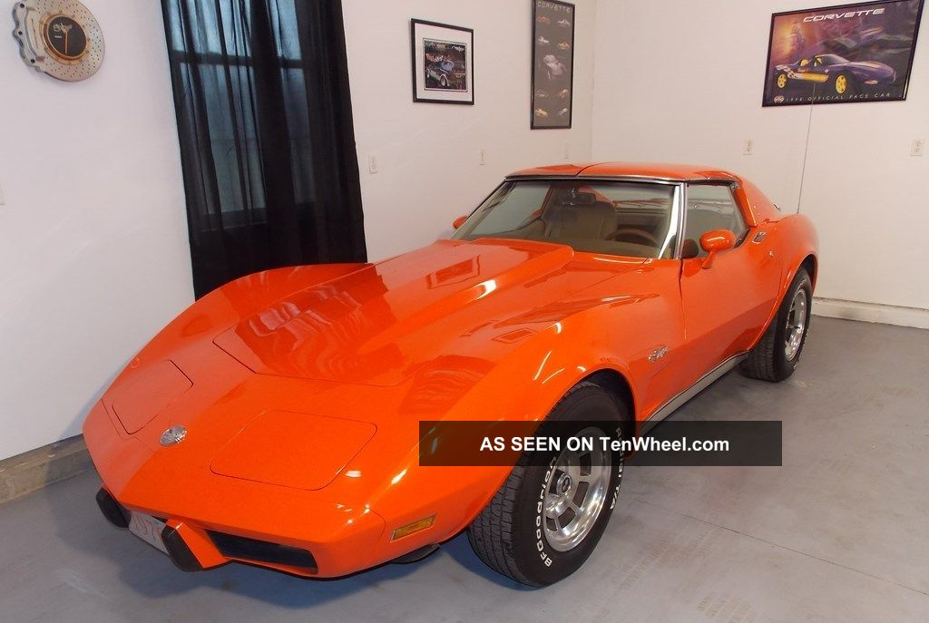 1976 Corvette Stingray S Match Orange Flame Interior