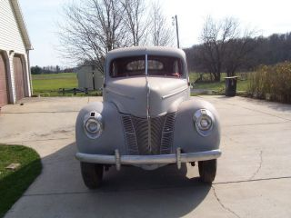 1940 Ford De Luxe Sedan,  Very Solid For Restoration Or Streetrod Cruiser photo