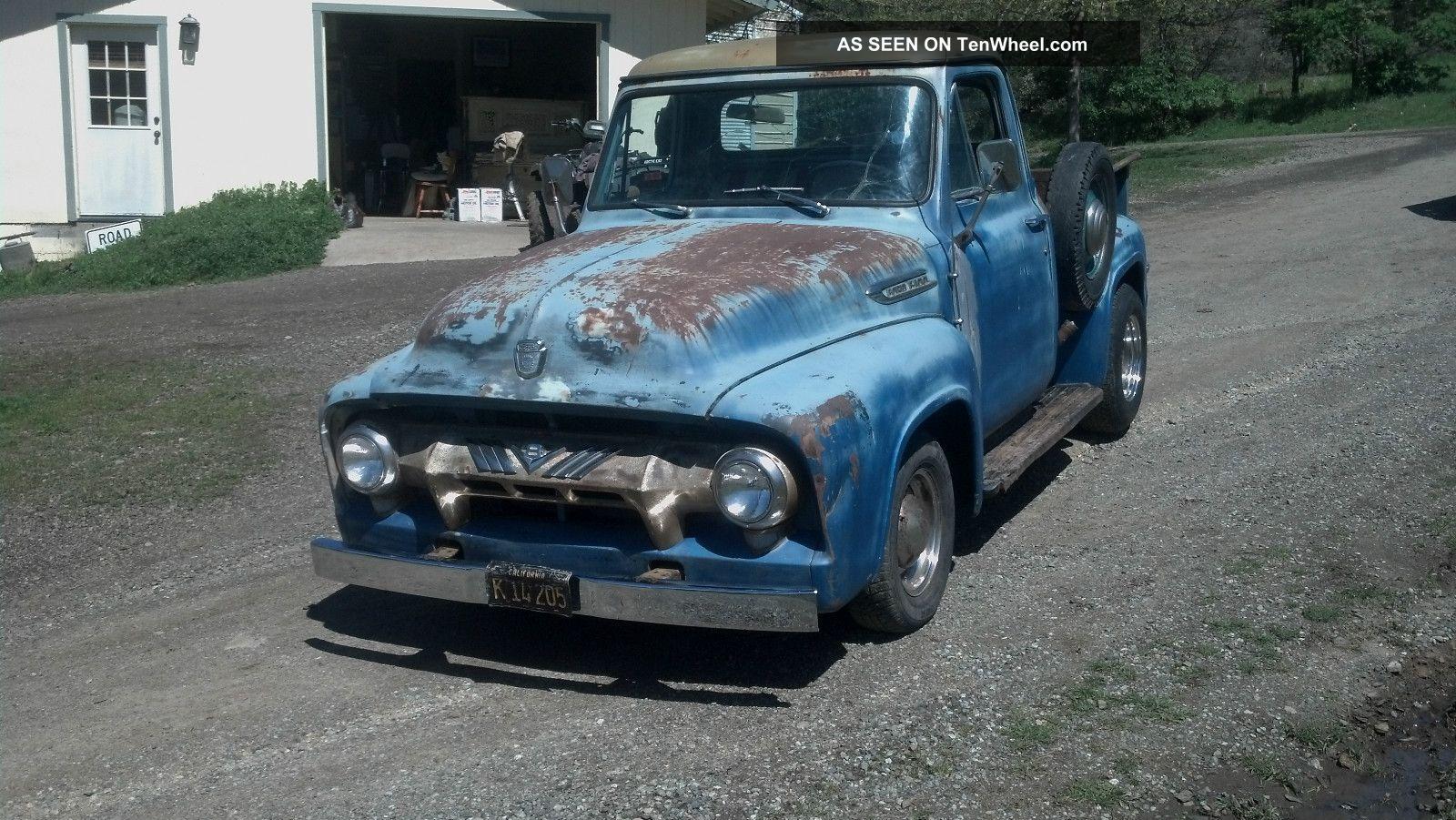 1954 Ford F100 Deluxe Pickup Truck Overdrive Custom 50 S