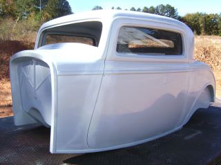 1932 Ford Three Window Coupe Body Project Fiberglass Body Hot Rat Rod photo