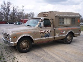 1968 Chevy C20 Vintage Camper Nhra Push Truck Rat Rod Gasser photo