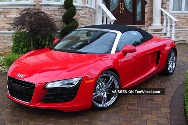 2012 audi r8 spyder convertible 2 door 4 2l red. Black Bedroom Furniture Sets. Home Design Ideas