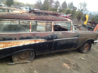 1957 Chevrolet 2 Door Wagon Handyman Like Nomad Project Look Cool Rat Rod photo