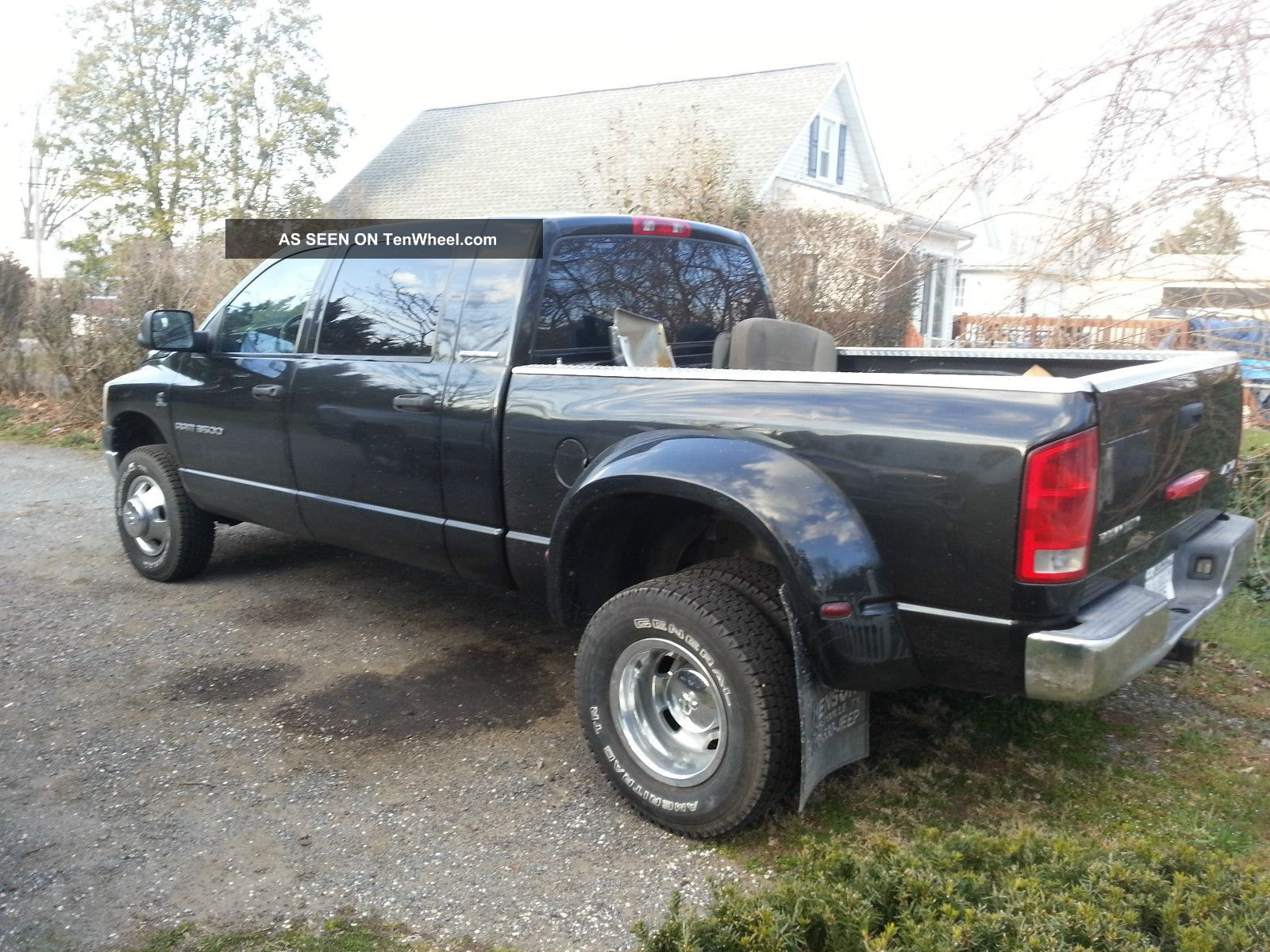 2006 dodge ram 3500 slt mega cab dully pickup 5 9 cummins. Black Bedroom Furniture Sets. Home Design Ideas