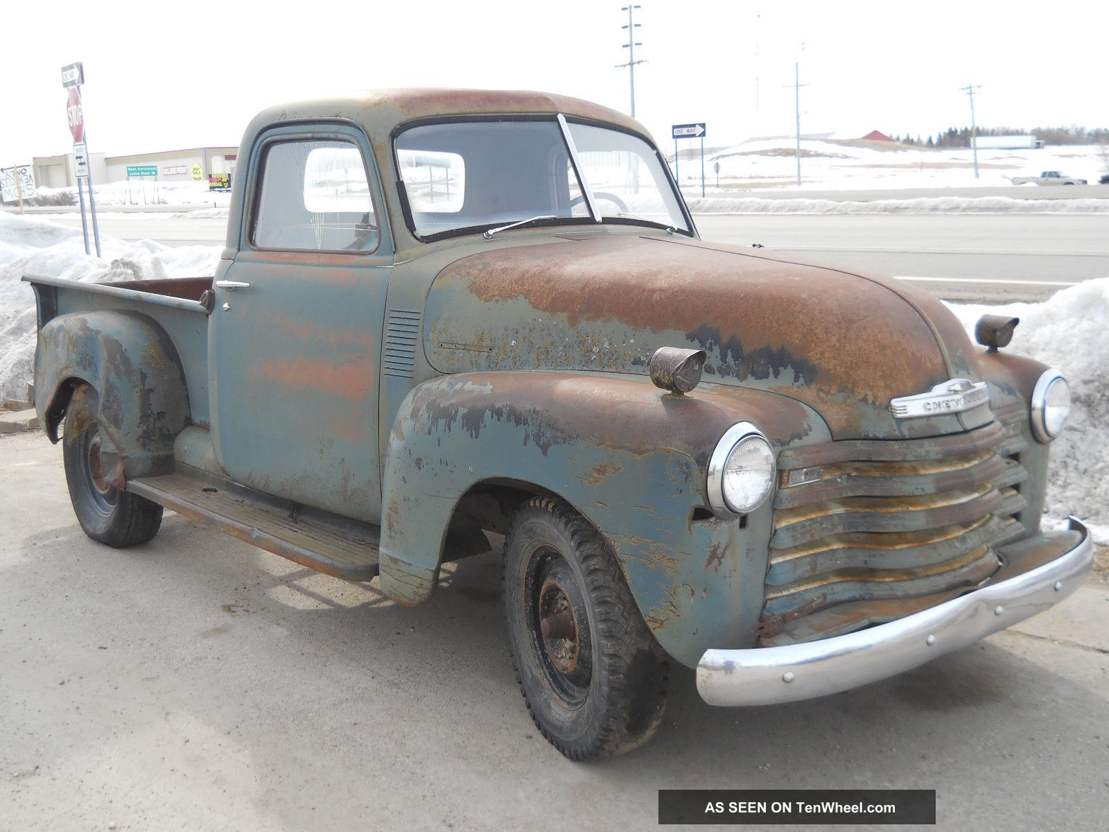 1951 chevy pickup truck 1 2 ton short box farm barn find patina rat rod. Black Bedroom Furniture Sets. Home Design Ideas