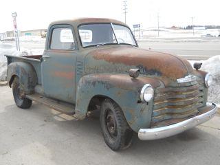 1951 Chevy Pickup Truck 1 / 2 Ton Short Box Farm Barn Find Patina Rat Rod photo