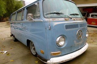 1970 Vw Bus Type2 Bay Window Slammed Custom Rat Rod photo