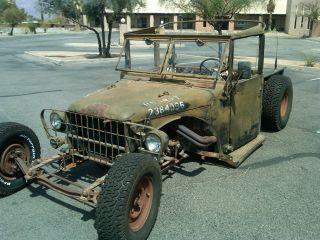 1952 M37 Dodge Power Wagon Military Rat Rod Truck Ratrod Hot Rod Hotrod photo