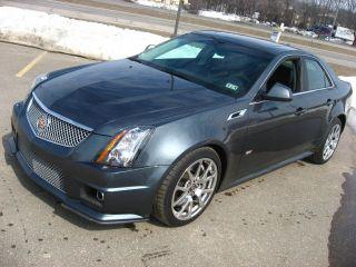 2011 Cadillac Cts - V Ctsv Sedan Thunder Gray 556hp 6.  2 V8 Auto Hid photo