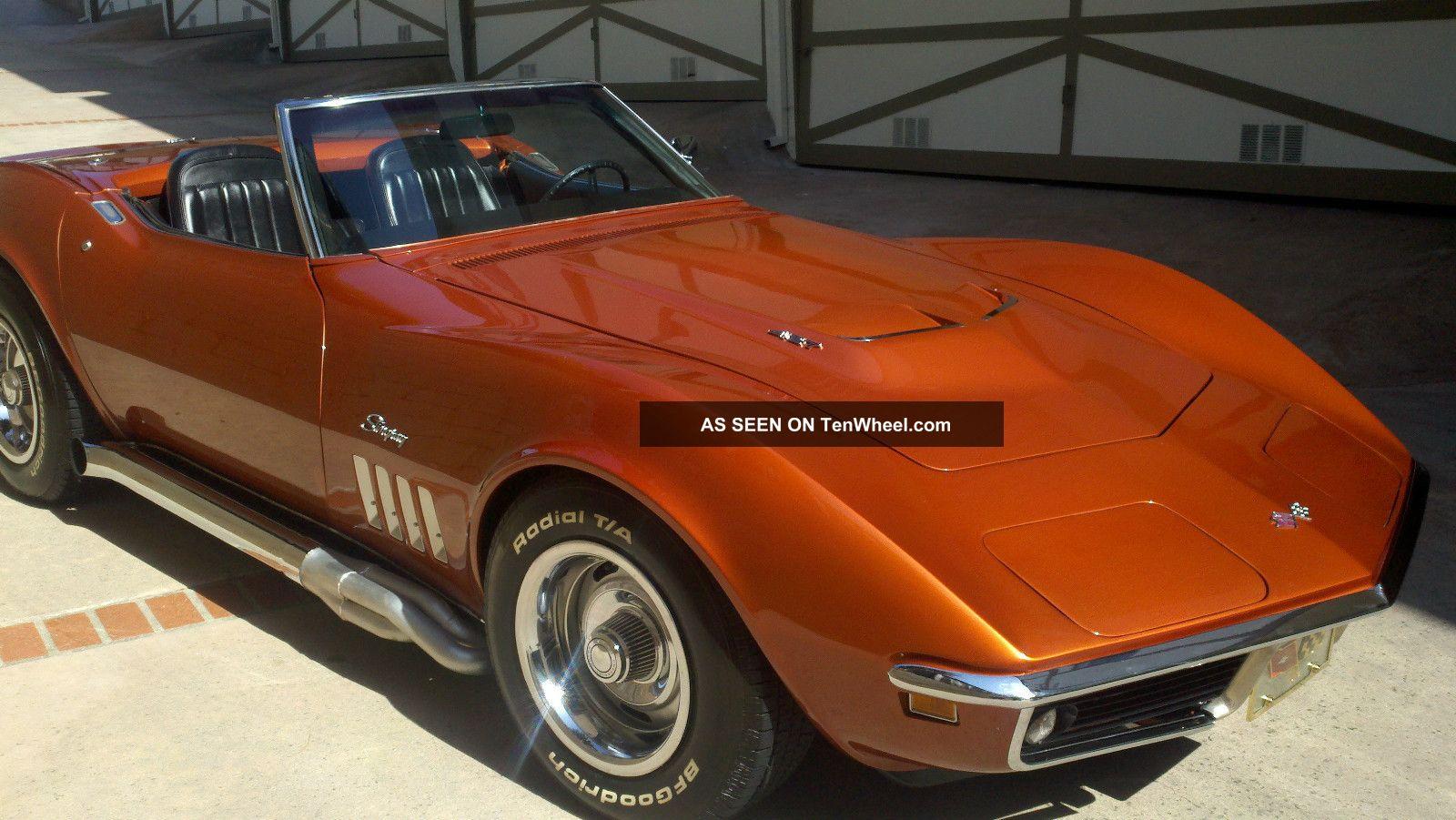 1969 chevrolet corvette convertible 2 door 7 0l 427 engine for Chevy truck with corvette motor