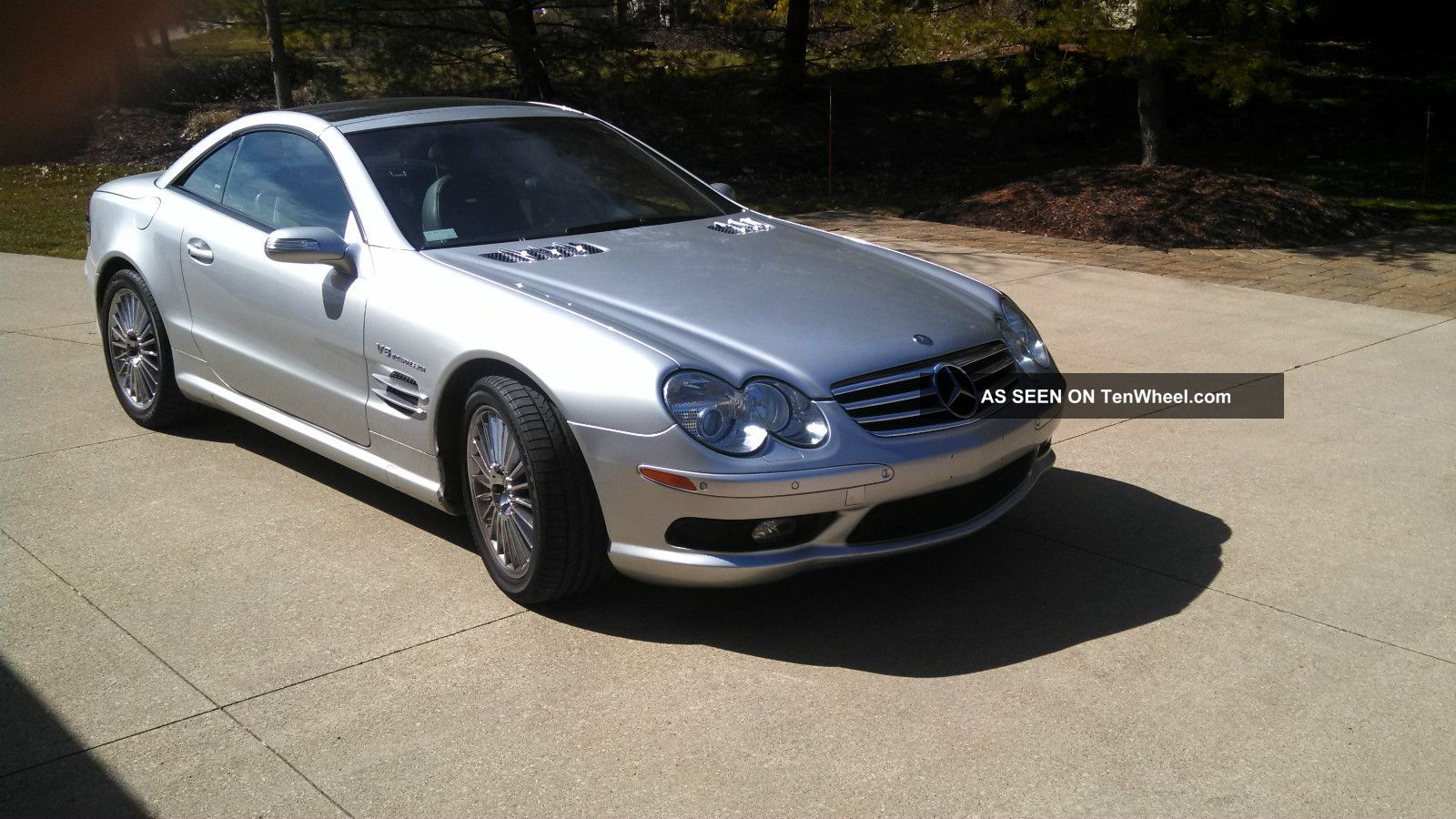 2004 mercedes benz sl55 amg convertible silver loaded for Mercedes benz sl55 amg specs