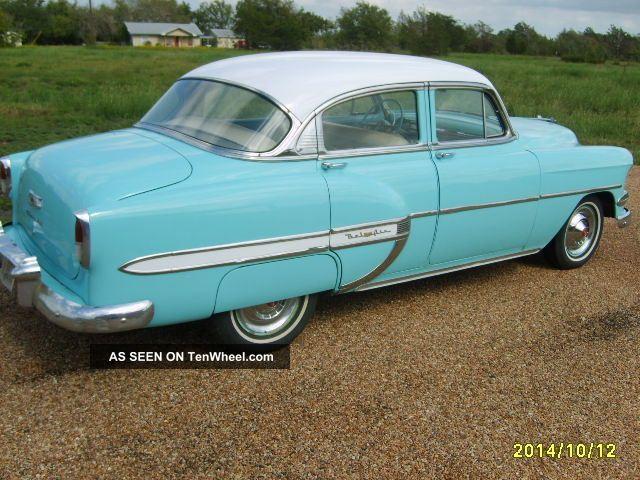 1954 chevy bel air sedan for 1954 belair 4 door sedan