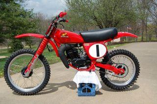1976 Honda Cr125 Elsinore Racer By Vintage Factory Ahrma Vintage Motocross photo