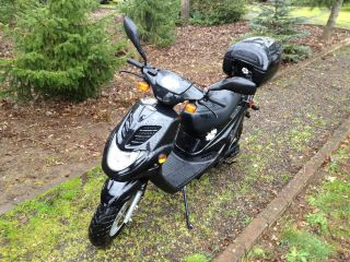 2005 E - Ton Beamer Ii 49.  3cc Scooter Moped Motorcycle Eton 2 50cc Black Pn2b 50 photo