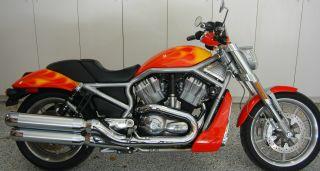 Harley Vrod Vrsc Custom Harley Orange Paint 2006 Runs As photo