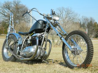 1967 Bsa Spitfire Chopper Numbers Matching Old School Bobber Triumph British photo