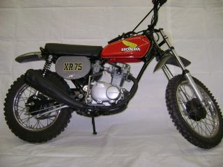 75 1975 Honda Xr75 Motorcycle Xr - 75 Xr 75 photo