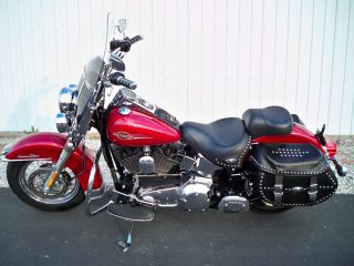 2006 Harley Davidson Flstci Softail Herritage Um90670 C.  S. photo