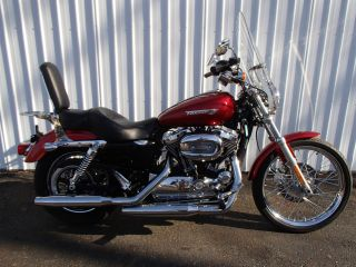 2008 Harley Davidson Xl1200c Sportster Red Hd H - D Um10062 Kw photo